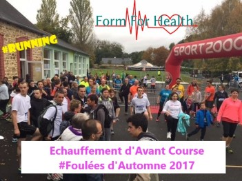 échauffement 12 Km Foulées d'automne 2017